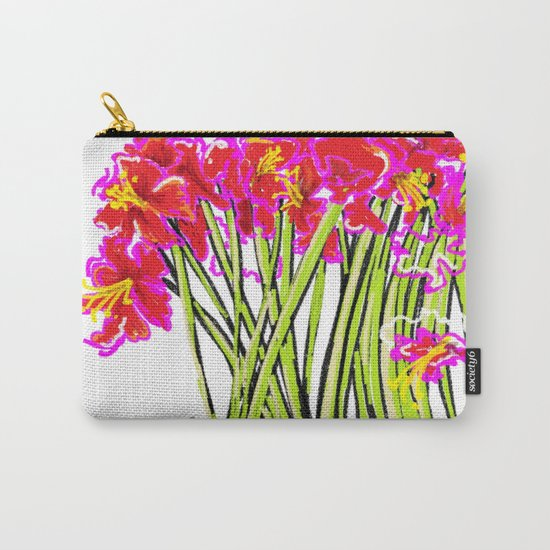 Red Flowers again, Hybiscus Carry-All Pouch