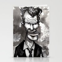 tom waits Stationery Cards featuring Tom Waits by Grant Hunter
