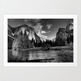 Merced River, Yosemite Valley, October 2010 Art Print