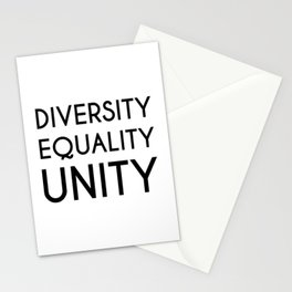 Diversity, Equality, Unity Stationery Cards