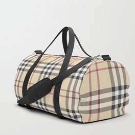 red line patter Duffle Bag