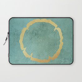 Gold Foil Tree Ring Laptop Sleeve