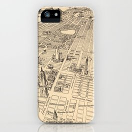 1926 Aerial New York City Map iPhone Case