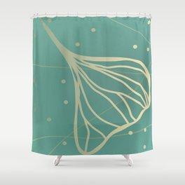 Ginkgo Leaf - Teal Dream Shower Curtain