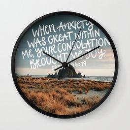 Psalm 94 Wall Clock