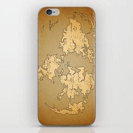 Gaia Midgar Final Fantasy VII Map iPhone Skin