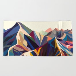 Mountains original Beach Towel