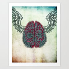 The brain's image Art Print
