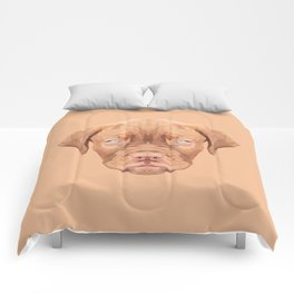 Dogue de Bordeaux puppy low poly. Comforters