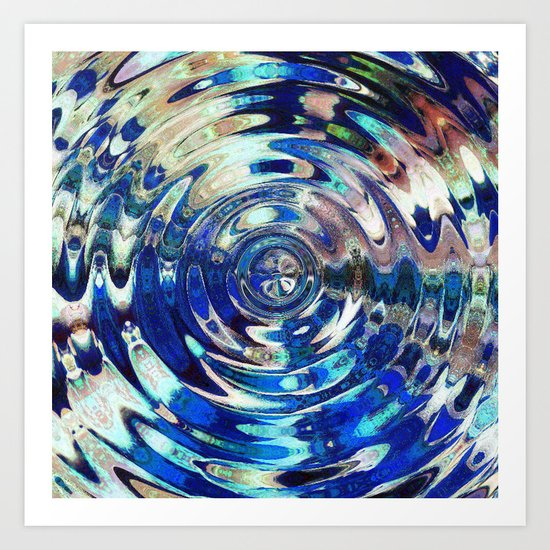 Water Element Ripple Pattern Art Print