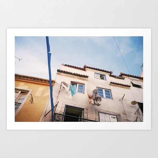 In the streets of Lisbon Art Print