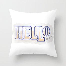 Hello Gorgeous Throw Pillow