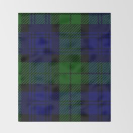 Scottish Campbell Tartan Pattern-Black Watch #2 Throw Blanket