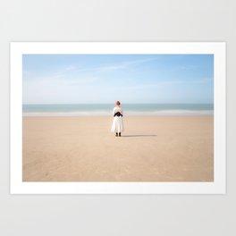 La jeune fille et la mer Art Print