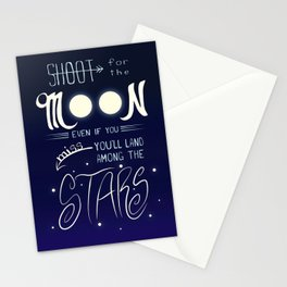 Shoot for the Moon Stationery Cards