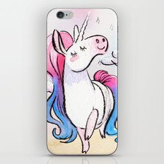 Chubby Unicorn: Pink & Blue iPhone & iPod Skin