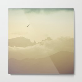 Clouds in the mountains II Metal Print