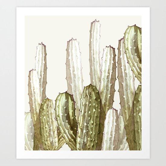 cactus florest Art Print