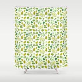 Hojas verdes Shower Curtain