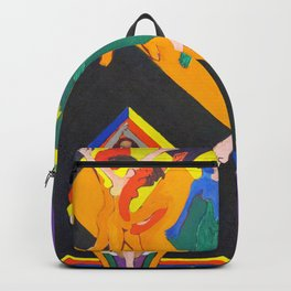 Dancing Girls in Rays of Color - Ernst Ludwig Kirchner Backpack
