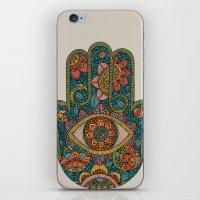 hamsa iPhone & iPod Skins featuring Hamsa by Valentina Harper