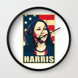 Kamala Harris Happy American Wall Clock