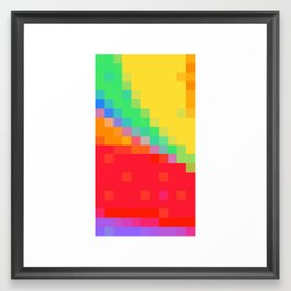 ABSTRACT PIXELS #0018 Framed Art Print