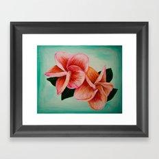 Plumeria Flower Framed Art Print