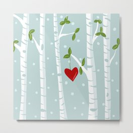 bue birch Metal Print