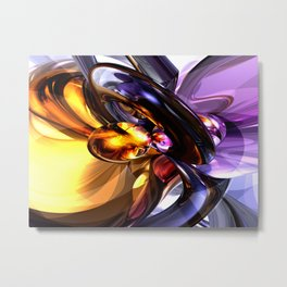 Alluring Grace Abstract Metal Print