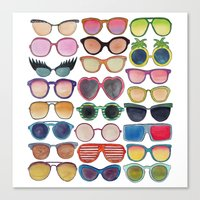 sunglasses Canvas Prints featuring Sunglasses by Veronique de Jong · illustration