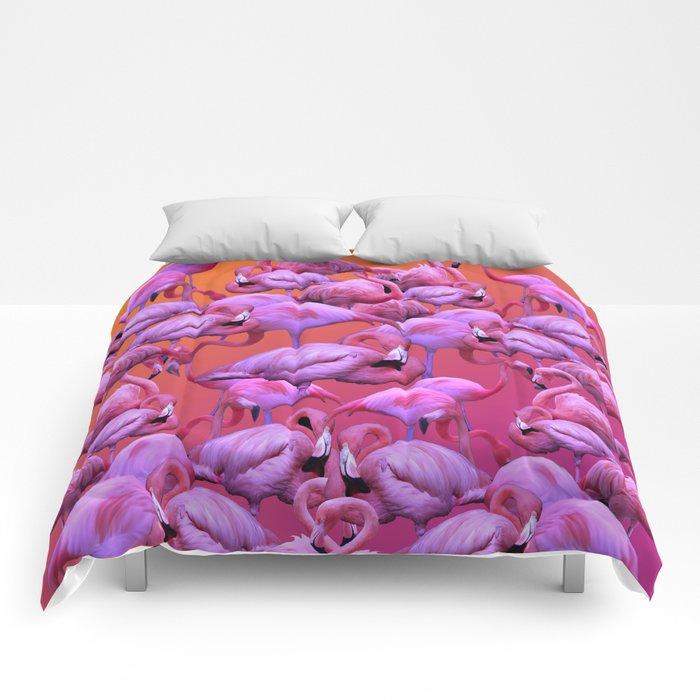 Flamingos Sunrise Comforters