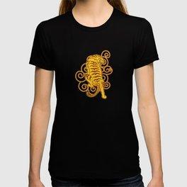 Japanese traditional golden TIger Tattoo Art T-shirt