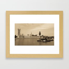 Parliament II // London, UK Framed Art Print