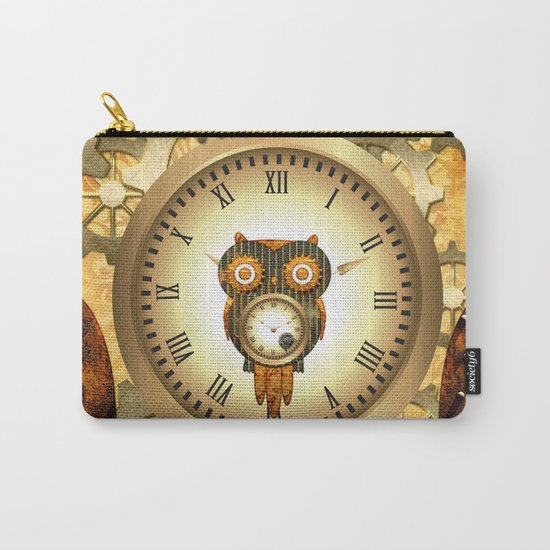 Steampunk, cute owl Carry-All Pouch