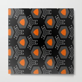 technologic orange  Metal Print