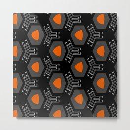 technologic orange  Metal Print