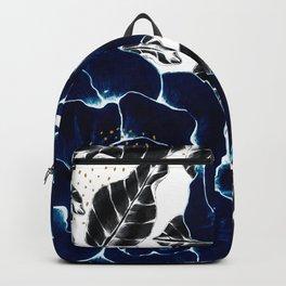 Blue large flowers Backpack