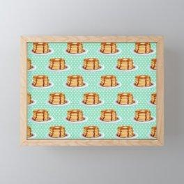 Pancakes & Dots Pattern Framed Mini Art Print