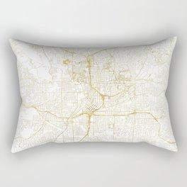 Atlanta Map Gold Rectangular Pillow