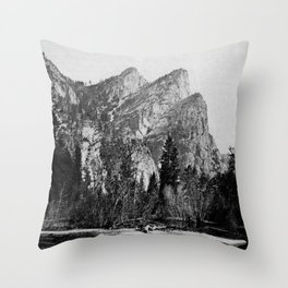 VIEW IN VOSEMITE VALLEY, CALIFORNIA Throw Pillow
