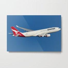 QANTAS A330 Metal Print