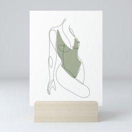 Matcha Nude Mini Art Print