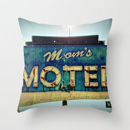 Mom's Motel Throw Pillow
