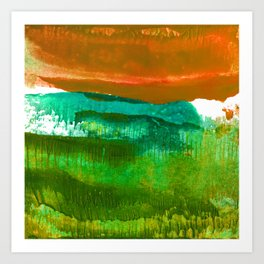 Encaustic Abstract No.27M by Kathy Morton Stanion Art Print