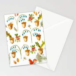 Acorns and Harebells Stationery Cards