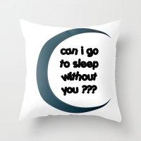 sleep Throw Pillows featuring Sleep by Cs025