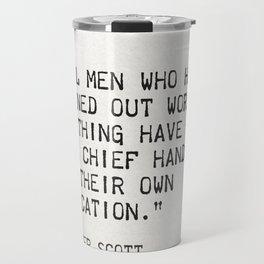 Walter Scott quote Travel Mug
