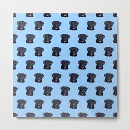 Walter the Black Labrador Dog Pattern Metal Print