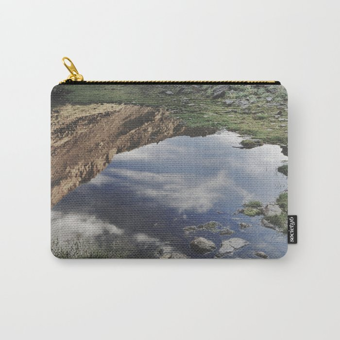 Dream Lake at the mountains. Retro Carry-All Pouch